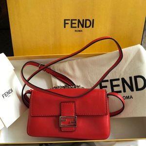 Auth Fendi micro baguette bag Brand New